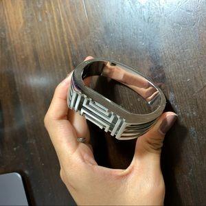 Tory Burch Fitbit Silver Case Bracelet